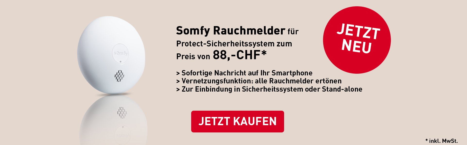 Somfy Rauchmelder Protect